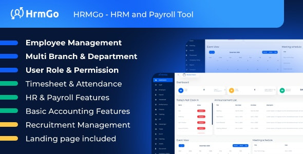 HRMGo - HRM and Payroll Tool - CodeCanyon Item for Sale