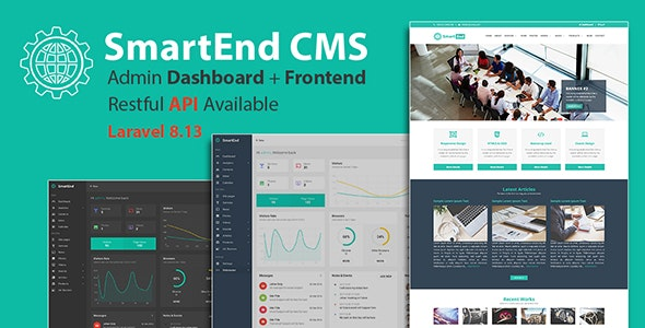 SmartEnd CMS v8.3.0 – Laravel Admin Dashboard with Frontend and Restful API