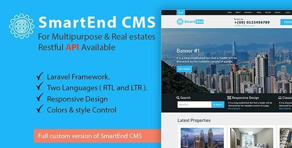 SmartEnd CMS for multipurpose & real estate with Restful API 13 December 2020