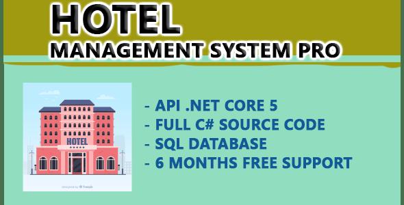 Hotel Management system PRO |  API .NET CORE 5 - CodeCanyon Item for Sale