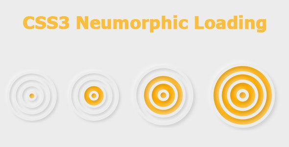 CSS3 Neumorphic Loading - CodeCanyon Item for Sale