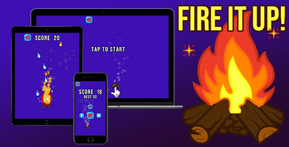 Fire it Up! - HTML5 Game (Construct 3 - 2 | capx | c3p)