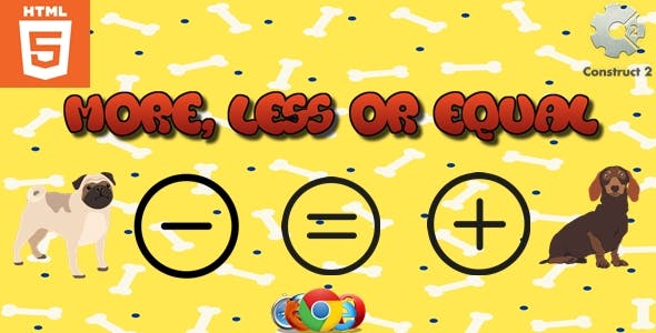 More, less or equal - HTML5 - Attention game