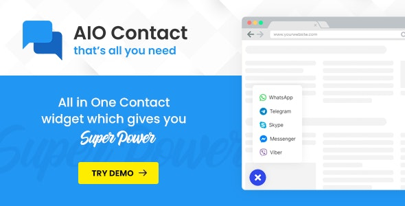 AIO Contact - All in One Contact Widget - CodeCanyon Item for Sale