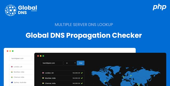 Global DNS - Multiple Server - DNS Propagation Checker - PHP