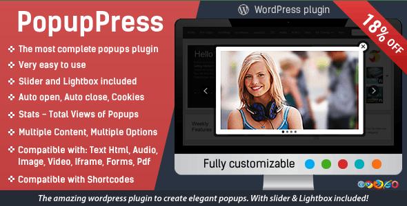 Popup Plugin for WordPress - Popup Press - Popups Slider & Lightbox - CodeCanyon Item for Sale