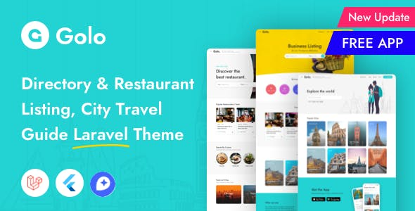Golo - Directory & Listing, City Travel Guide Laravel Theme