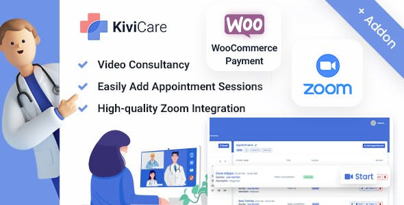 Kivicare - Telemed And WooCommerce Payment Gateway (Add-on)