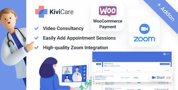 Kivicare - Telemed And WooCommerce Payment Gateway (Add-on) - CodeCanyon Item for Sale