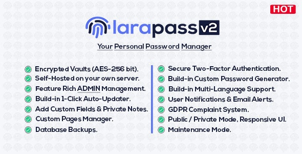 LaraPass v2 - Personal Version - CodeCanyon Item for Sale