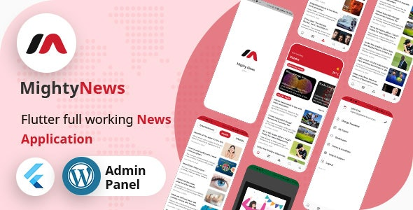 MightyNews - Flutter 2.0 News App with Wordpress backend - CodeCanyon Item for Sale