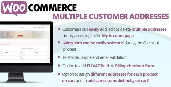 WooCommerce Multiple Customer Addresses v18.8