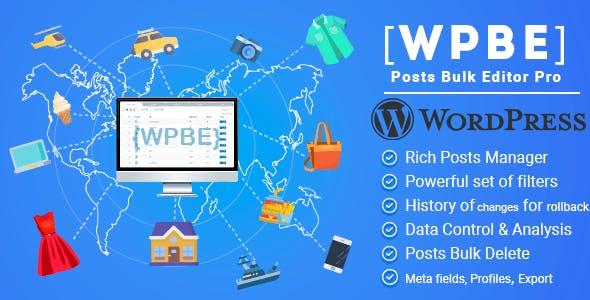 WPBE - WordPress Posts Bulk Editor Professional