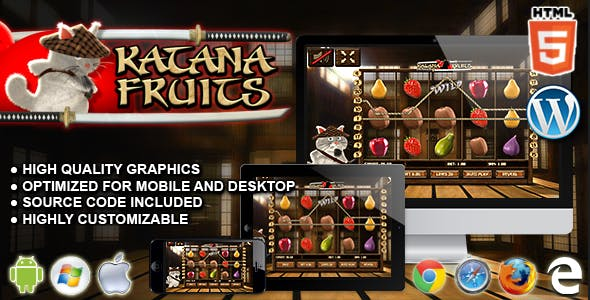 Katana Fruits Slot Machine - Premium HTML5 Casino Game