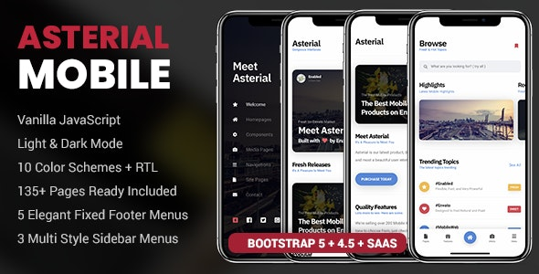 Asterial Mobile   PhoneGap & Cordova Mobile App - CodeCanyon Item for Sale