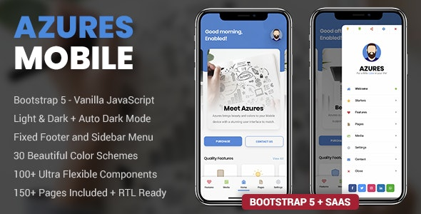 Azures Mobile | PhoneGap & Cordova Mobile App - CodeCanyon Item for Sale