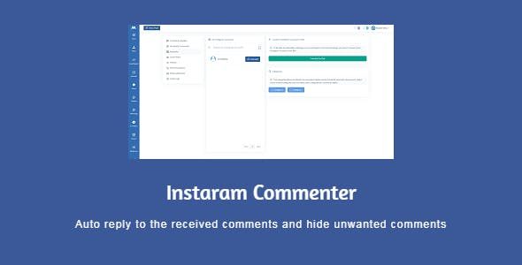 Icommenter - auto reply and moderate the Instagram comments