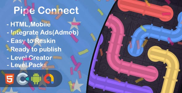 Pipe Connect(Html5 + Construct 3 +Mobile)
