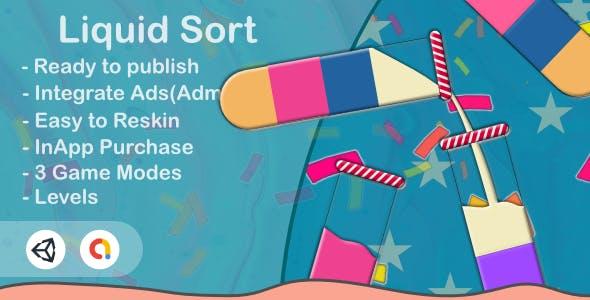 Liquid Sort(Unity Game+Admob+iOS+Android)