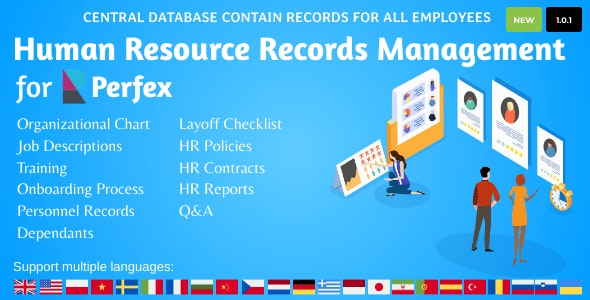 HR Records for Perfex CRM - CodeCanyon Item for Sale