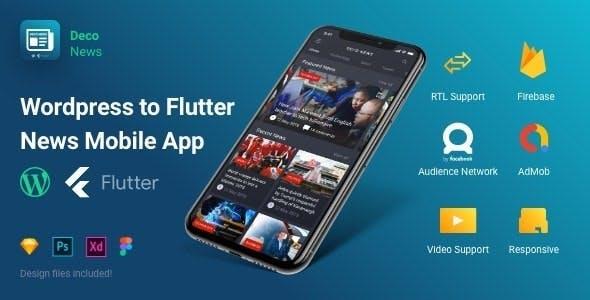 Flutter - Deco News - Mobile App for Wordpress