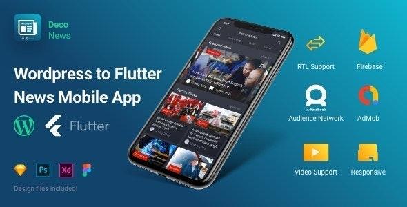 Deco News v1.3.0 – Flutter Mobile App for WordPress
