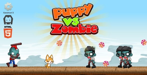 Puppy vs Zombie - Construct 2 Game