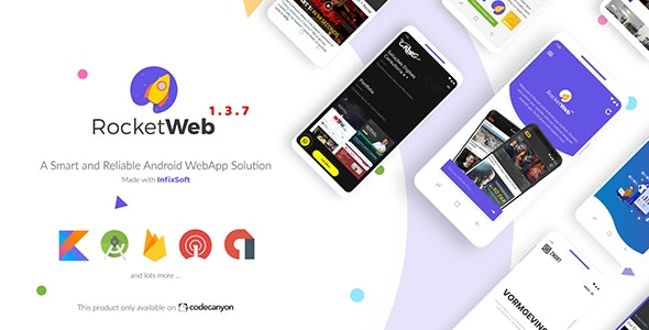 RocketWeb | Configurable Android WebView App Template - CodeCanyon Item for Sale