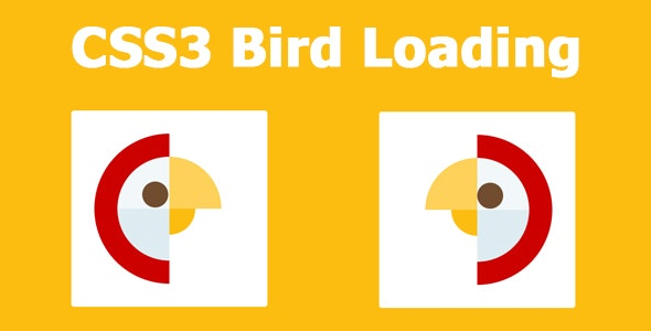 CSS3 Bird Loading - CodeCanyon Item for Sale