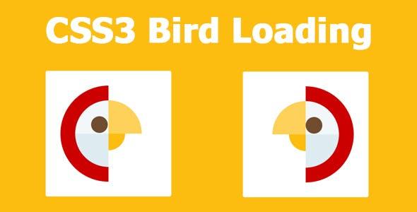 CSS3 Bird Loading