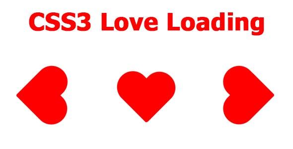 CSS3 Love Loading