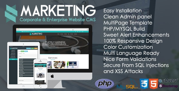 Marketing - Corporate & Enterprise Website CMS - CodeCanyon Item for Sale