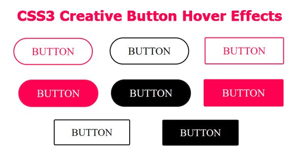 CSS3 Creative Button Hover Effects