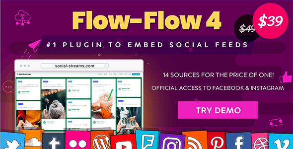 Social Stream for WordPress — Facebook Feed Instagram Feed Twitter Youtube Gallery Plugin - CodeCanyon Item for Sale