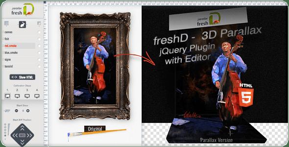 freshD - 3D Parallax jQuery Plugin with Editor