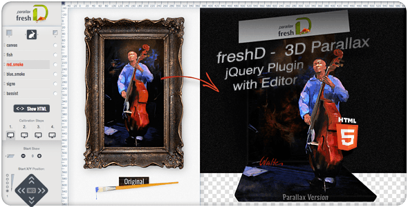 freshD - 3D Parallax jQuery Plugin with Editor - CodeCanyon Item for Sale