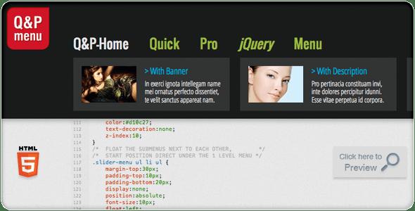 Quick & Pro Menu Navigation jQuery Plugin