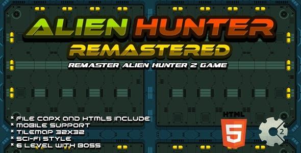 Alien Hunter Remastered - Construct 2 Game