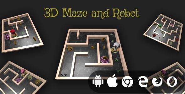 3D Maze And Robot - Cross Platform Realistic Maze Game