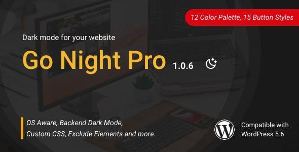 Go Night Pro | Dark Mode / Night Mode WordPress Plugin
