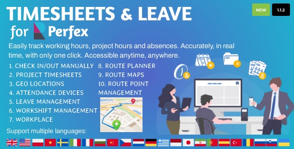 Timesheets and Leave Management for Perfex CRM v1.1.2