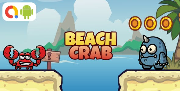 Beach Crab Android Game with AdMob + Ready to Publish