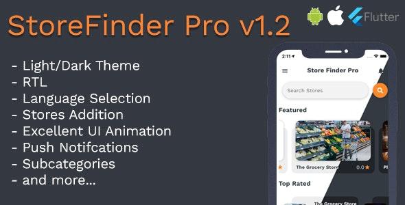 StoreFinder Pro Full App Flutter v1.2 - CodeCanyon Item for Sale