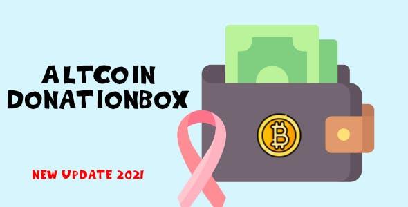 AltCoin DonationBox Shortcode - crypto donate
