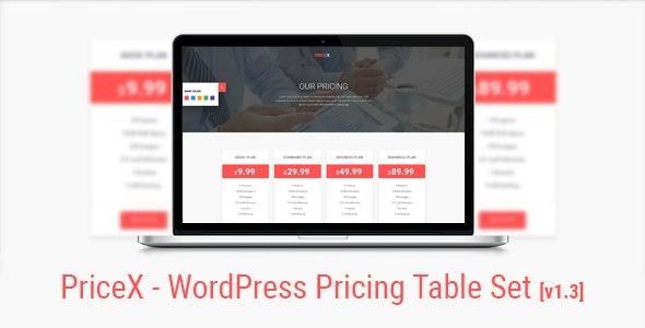 PriceX | Material Design WordPress Pricing Table Set Plugin - CodeCanyon Item for Sale