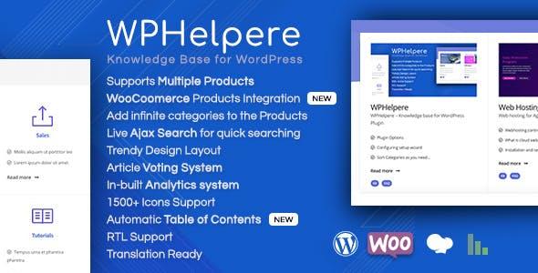 WPHelpere Knowledge Base for WordPress plugin