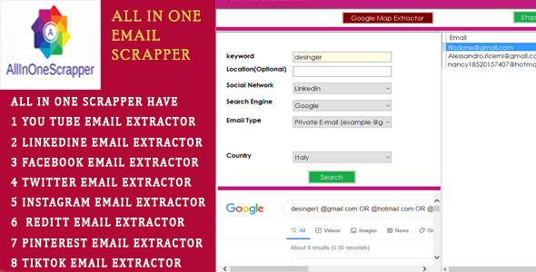 AllINONE Email Extractor