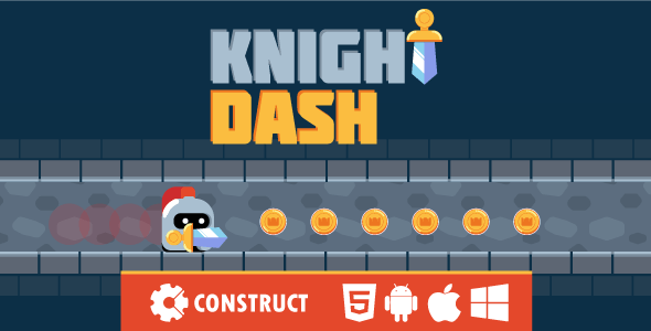 Knight Dash - HTML5 Mobile Game - CodeCanyon Item for Sale