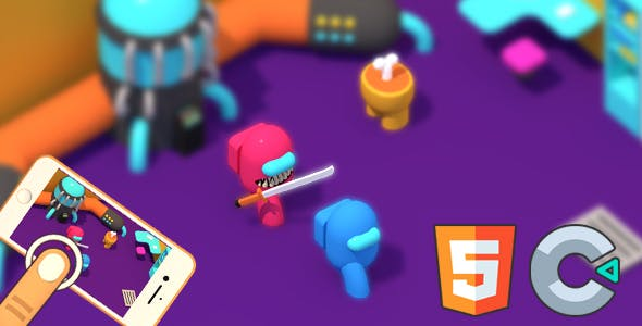 Red Impostor vs. Crew (HTML5 Game - Construct 3)