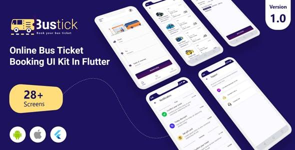 BusTick - Online Bus Ticket Booking App UI Kit in Flutter